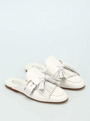 Tod'S: Loafers & Slippers online - Leather slippers with tassels