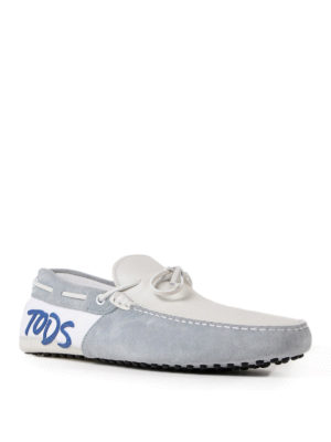 Tod'S: Loafers & Slippers online - Logo leather and suede loafers