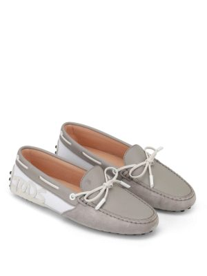 Tod'S: Loafers & Slippers online - Logo patch bicolour loafers