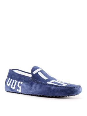 Tod'S: Loafers & Slippers online - Logo print suede loafers