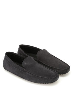 Tod'S: Loafers & Slippers online - New Gommini blue suede loafers