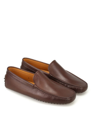 Tod'S: Loafers & Slippers online - New Gommini brown leather loafers