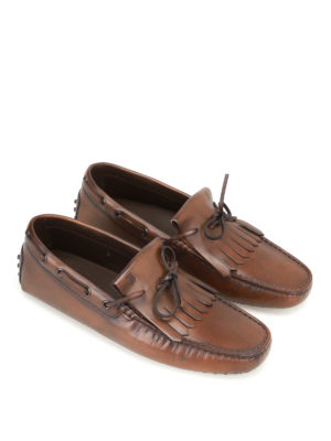Tod'S: Loafers & Slippers online - New Gommini cacao leather loafers