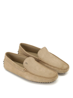 Tod'S: Loafers & Slippers online - New Gommini smooth suede loafers
