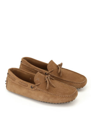 Tod'S: Loafers & Slippers online - New Laccetto beaver suede loafers
