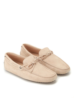 Tod'S: Loafers & Slippers online - New Laccetto beige driver shoes