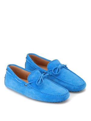 Tod'S: Loafers & Slippers online - New Laccetto blue driver shoes