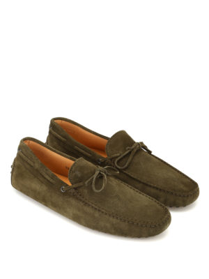 Tod'S: Loafers & Slippers online - New Laccetto green driving shoes