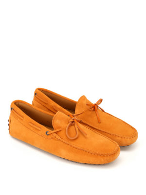 Tod'S: Loafers & Slippers online - New Laccetto orange suede loafers
