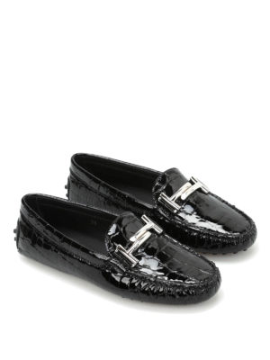 Tod'S: Loafers & Slippers online - Patent leather Gommini Doppia T