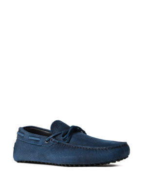 Tod'S: Loafers & Slippers online - Patterned suede Gommino loafers