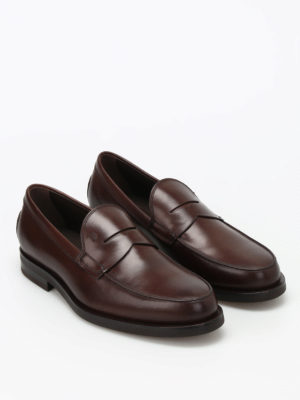 Tod'S: Loafers & Slippers online - Penny bar detailed leather loafers