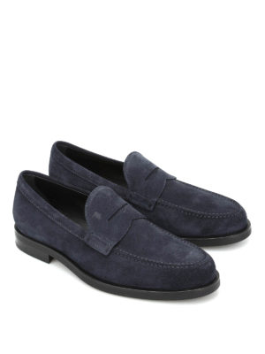 Tod'S: Loafers & Slippers online - Penny bar suede loafers