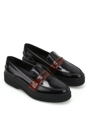 Tod'S: Loafers & Slippers online - Pointy loafers with brown penny bar