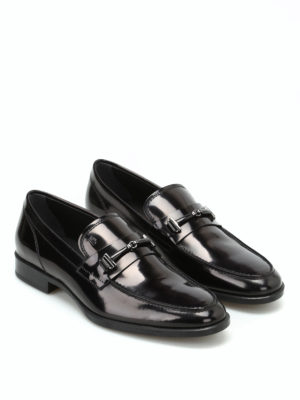 Tod'S: Loafers & Slippers online - Polished leather double T loafers