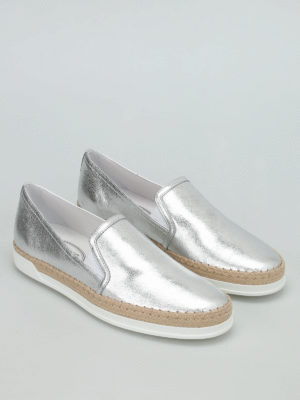 Tod'S: Loafers & Slippers online - Raffia detail leather slip-ons