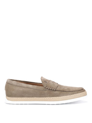 Tod'S: Loafers & Slippers online - Rafia TV suede loafers