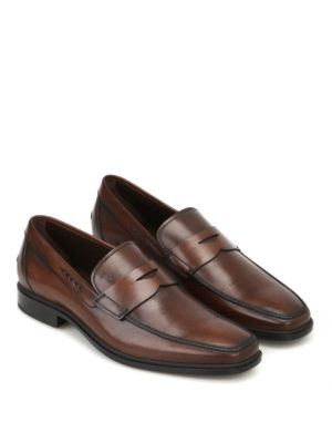 Tod'S: Loafers & Slippers online - Rubber sole classic leather loafers