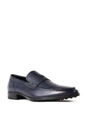 Tod'S: Loafers & Slippers online - Seasonless blue leather loafers