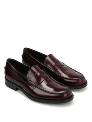 Tod'S: Loafers & Slippers online - Semi-glossy brushed leather loafers