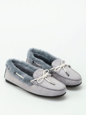 Tod'S: Loafers & Slippers online - Shealring inner soft nubuck loafers
