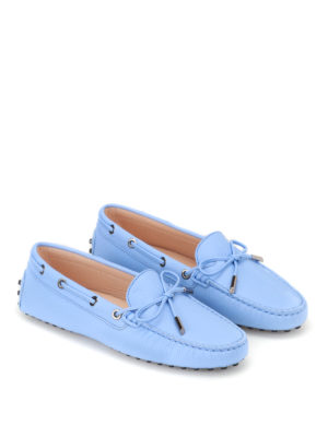 Tod'S: Loafers & Slippers online - Sky blue Heaven leather loafers