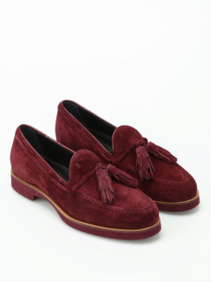 Tod'S: Loafers & Slippers online - Soft suede loafers with tassels