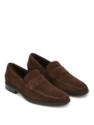 Tod'S: Loafers & Slippers online - Square toe suede loafers