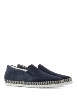 Tod'S: Loafers & Slippers online - Suede and jute slip-ons