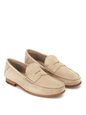 Tod'S: Loafers & Slippers online - Suede loafers with penny bar