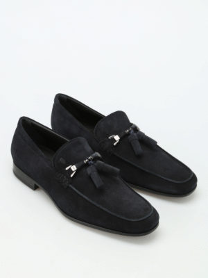 Tod'S: Loafers & Slippers online - Suede loafers with tassels