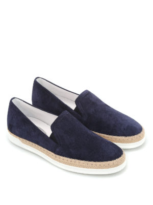Tod'S: Loafers & Slippers online - Suede slip-ons