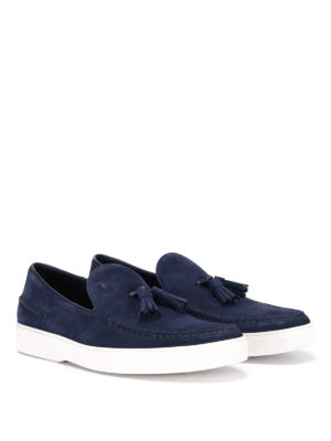 Tod'S: Loafers & Slippers online - Tassels detail suede loafers