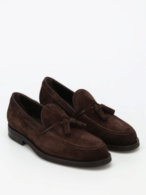 Tod'S: Loafers & Slippers online - Tassels detailed suede loafers