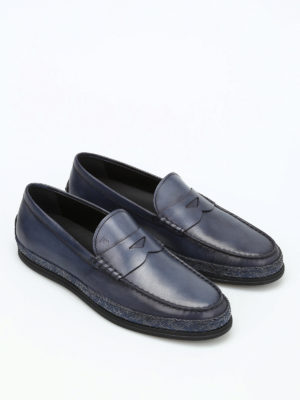 Tod'S: Loafers & Slippers online - Woven leather loafers