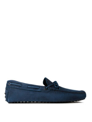 Tod'S: Loafers & Slippers - Patterned suede Gommino loafers