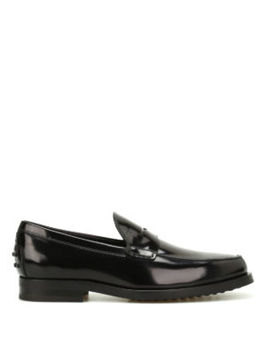Tod'S: Loafers & Slippers - Penny bar patent leather loafers