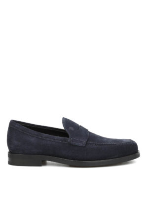 Tod'S: Loafers & Slippers - Penny bar suede loafers