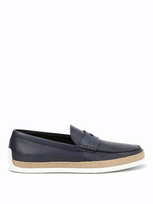 Tod'S: Loafers & Slippers - Rafia TV leather loafers