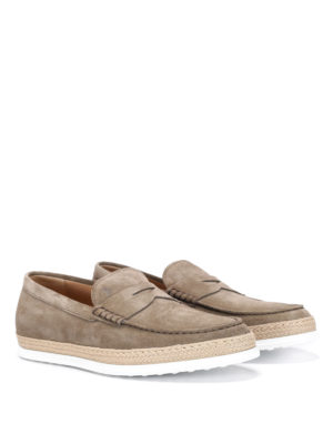 Tod'S: Loafers & Slippers - Rafia TV suede loafers