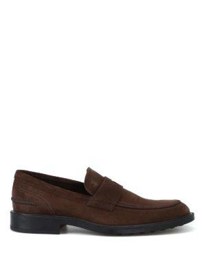 TOD'S: Mocassini e slippers - Mocassini in camoscio con suola con gommini