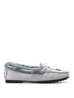 Tod'S: Loafers & Slippers - Shealring inner soft nubuck loafers
