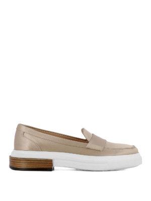 TOD'S: Mocassini e slippers - Mocassini in raso di seta