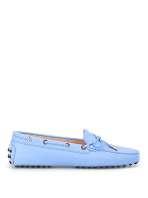 Tod'S: Loafers & Slippers - Sky blue Heaven leather loafers