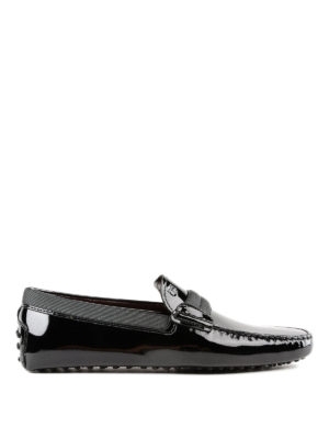TOD'S: Mocassini e slippers - Mocassini Smoking Gommino in pelle verniciata