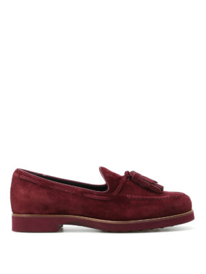Tod'S: Loafers & Slippers - Soft suede loafers with tassels