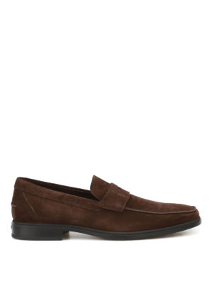 Tod'S: Loafers & Slippers - Square toe suede loafers