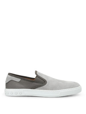 Tod'S: Loafers & Slippers - Suede and canvas slip-ons