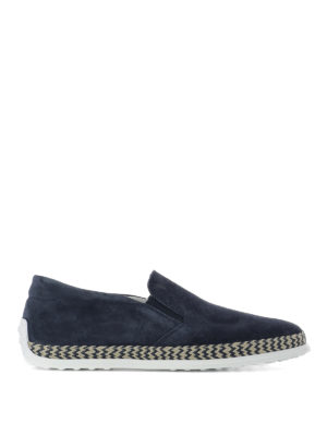 Tod'S: Loafers & Slippers - Suede and jute slip-ons
