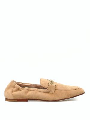 TOD'S: Mocassini e slippers - Mocassini in camoscio con elastico